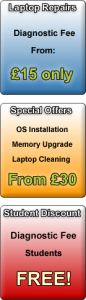 Special offers OS Installation, memory upgrade and laptop cleaning